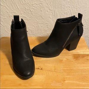 Double Side-Zip Booties, 3.5-Inch Heel